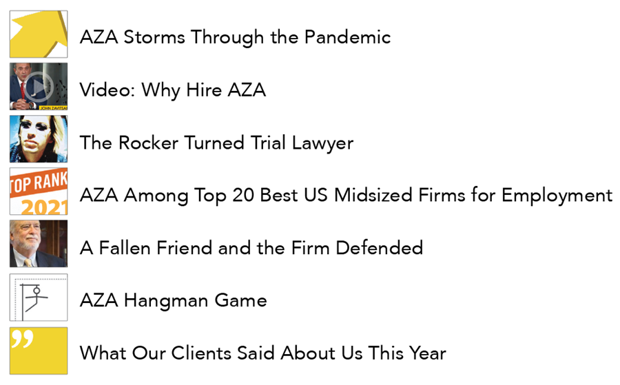 - Trial Prowess Leads to Settlements Too - Best Boutique Litigation in Texas Again - Among Best in Nation for Associates - Ridiculous Number of Awards - Puzzling Distraction - David Warden Rocks - Watch Our Latest Video